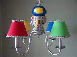 Kids Chandeliers Lighting Ideas Colorful Shade Kids Chandelier With Space Robot