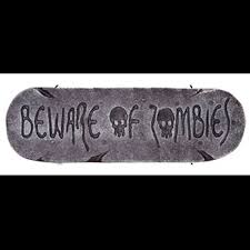 gothic zombie warning sign dead zone halloween prop decoration