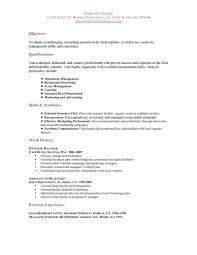resume objective for restaurant job free resume example and