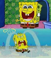 Sad Spongebob Meme - spongebob happy and sad blank template imgflip
