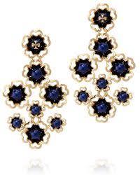Tory Burch Beaded Chandelier Earring Tory Burch Earrings Silver U0026 Gold Stud Earrings U0026 Drops Lyst