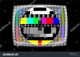 tv color test pattern test card stock vector 69416446 shutterstock