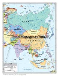 Political Map Asia by Political Map Of Asia Available As Digital Download From