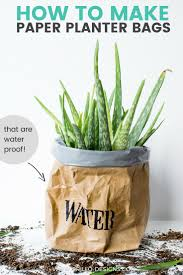 where to buy large planters diy kraft paper planter bag tutorial u2022 grillo designs