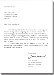 ideas collection how to write a letter your landlord about bed