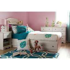 Bookcase Storage Bed South Shore Summer Breeze Mates Vanilla Bookcase Bed Collection