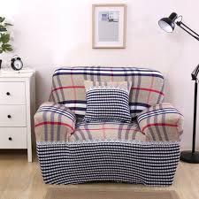 Tartan Chesterfield Sofa by Online Get Cheap Striped Sofa Slipcover Aliexpress Com Alibaba