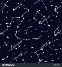 Map Of Constellations Seamless Pattern Constellations Stock Vector 553077898 Shutterstock