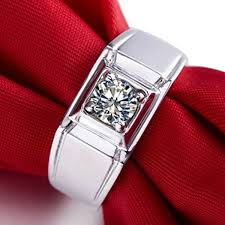 Anniversary Gifts For Men Engagement - certificate 1ct certificate moissanites ring man solid 585 white