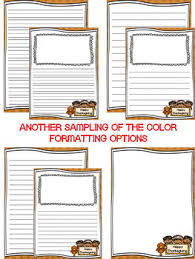 writing paper thanksgiving writing stationary differentiated