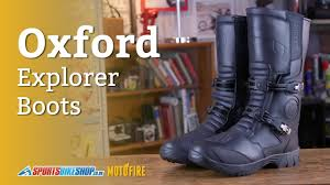 cheap moto boots oxford explorer boots review youtube