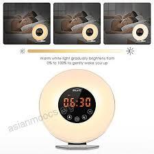 alarm clock that wakes you up during light sleep inlife sunrise alarm clock wake up light sunset simulator night