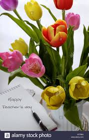 Images Of Tulip Flowers - happy teachers day handmade tulip flower pot stack of books