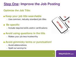 Monster Jobs Resume Monster Webinar Maximize Your Job Posting Resume