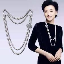 long double necklace images Luxury double swans pearl necklace double strands natural pearl jpg