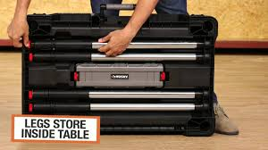Husky Table Legs by Husky Portable Jobsite Workbench Husky Tools Pinterest