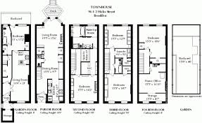 row house floor plan interesting brownstone row house floor plans gallery ideas house