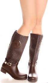 s boots knee high brown brown buckle inner zipper rubber knee high boot s boots