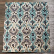 Modern Ikat Rug Vibrant Modern Ikat Rug Shades Of Light