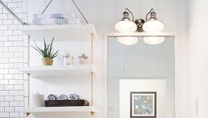 Shelves For Bathroom Builder Grade Bath Updates Rope Shelf