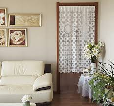 pastorale maille gaze cuisine rideau de porte deux modèles 85 x 150