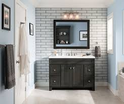 Lowes Bath Cabinets Vanities Diamond Freshfit At Lowe U0027s Goslin Collection The On Trend Gray