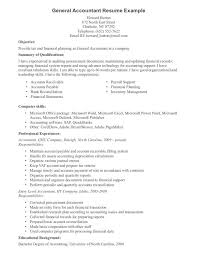 Entry Level Accounting Job Resume by General Job Resume Curriculum Vitae General Cover Letters