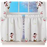 Snowman Valances Amazon Com Winter Snowman U0026 Cardinal Window Valance Home U0026 Kitchen