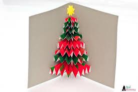 diy 3d christmas tree card real momma