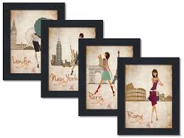 amazon com paris london roma and new york set 8