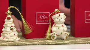 lenox set of 5 porcelain ornaments with gift boxes on qvc