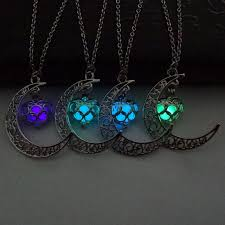 green heart necklace images Fashion luminous glow in the dark necklace sailor moon pendant jpg