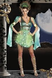 Exotic Halloween Costumes Green Mythical Medusa Light Halloween Costume Amiclubwear