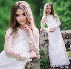 online get cheap white communion dresses long aliexpress com