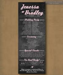 Wedding Program Chalkboard Chalkboard Wedding Program Can Be Made Into An Invitation