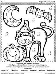 free halloween math worksheets worksheets