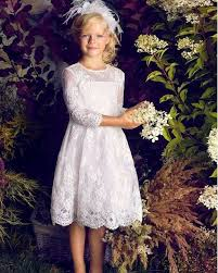 2016 fashion first communion dresses for girls a line white lace