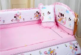 Minnie Crib Bedding Set Baby Crib Bedding Set Mikey Minnie Mouse Bedding Set 100 Cotton