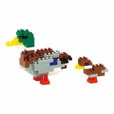 nanoblock mini critters series mallard duck duckling by kawada nbc