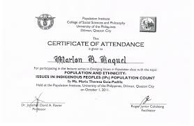 tidbits and bytes example of certificate of attendance seminar