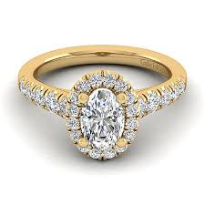 yellow gold oval engagement rings beckett 14k yellow gold oval halo engagement ring er10909o4y44jj
