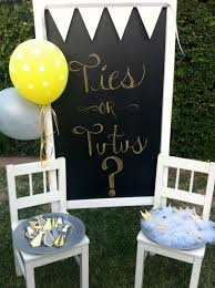 baby revealing ideas kara s party ideas ties or tutus gender reveal shower party
