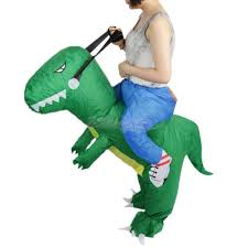 Rex Halloween Costumes Large Inflatable Rex Blow Dinosaur Costume Party Fancy Dress