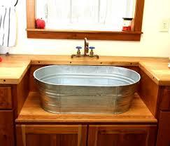diy utility sink cabinet 13 crazy creative diy bathroom vanities galvanized tub bathroom