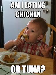 Tuna Sub Meme - am i eating chicken or tuna funny eating meme image