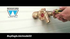Woodford 17 Faucet Woodford Model 22 And Cold Outdoorfaucet Installation Youtube