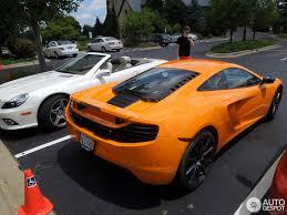 orange mclaren 12c mclaren 12c 27 july 2013 autogespot