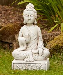blissful buddha statue large garden ornament s s shop