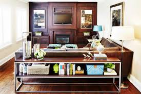 sofa table behind couch 47 console table decor ideas shelterness