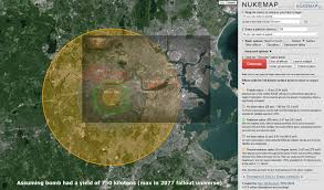 Nuclear Fallout Map by 750 Kiloton Nukemap Of Boston Fallout
